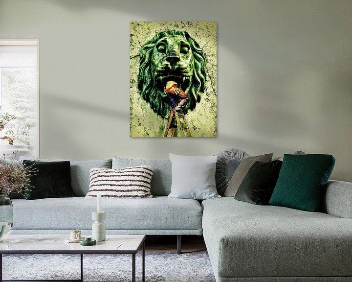 Impression: Dans le lion. (gloussements) sur Ruben van Gogh