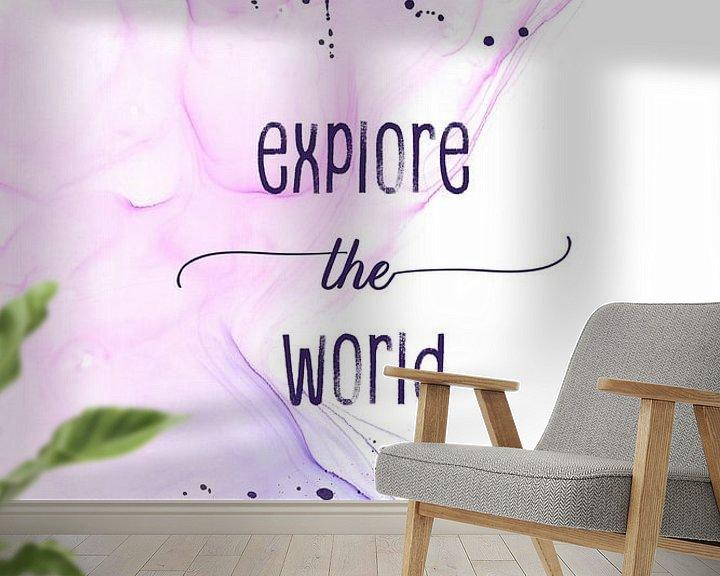 Sfeerimpressie behang: Explore the world   floating colors van Melanie Viola
