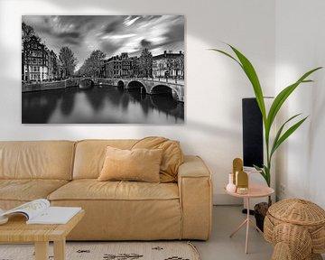 Ecke Keizersgracht/Leidsegracht in Amsterdam von Mike Peek