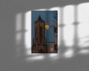supermoon de Eusebius te Arnhem van Patrick Oosterman
