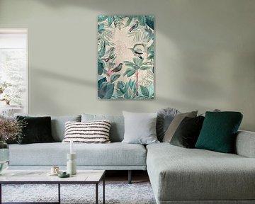 Tropenparadies mit Vögeln von Andrea Haase
