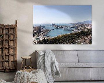 Malaga Spanien Hafen Übersicht von Marianne van der Zee