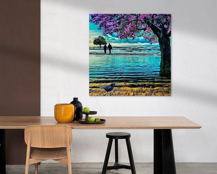 Beispiel: Bäume am Meer (Japanische Kirsche) von Ruben van Gogh