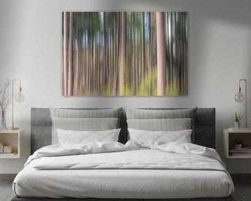 Impressionistisch bos van Marco de Jong