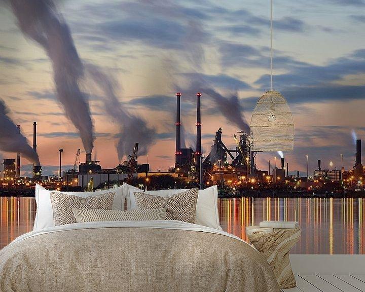 Sfeerimpressie behang: Tata Steel van Eric Oudendijk