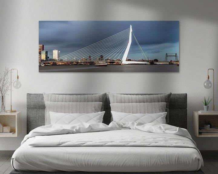 Sfeerimpressie: Mooie, indrukwekkende skyline Rotterdam van Miranda van Hulst