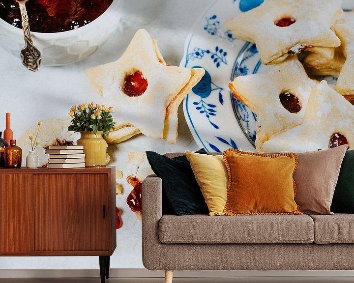 Sfeerimpressie behang: Sterren Koekjes met jam van Photography by Naomi.K