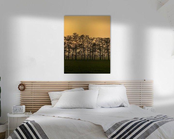 Sfeerimpressie: Rode zonsondergang van Jaap Tempelman