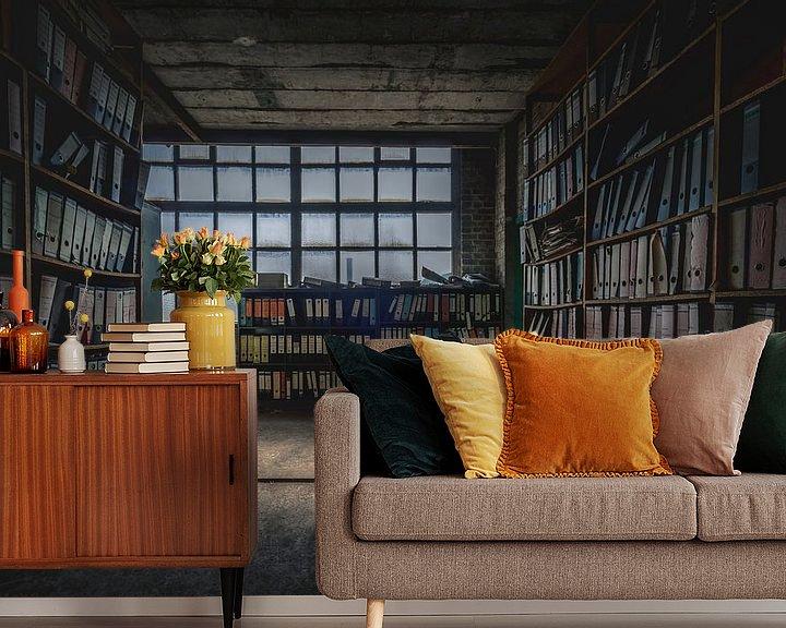 Beispiel fototapete: Das verlassene Archiv von Frans Nijland
