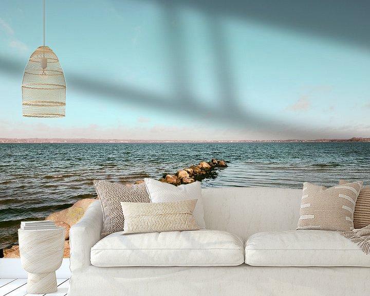 Beispiel fototapete: Buhne und Meer von Heiko Westphalen