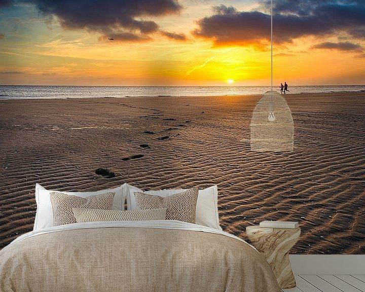 Impression: Des pas dans le sable sur Jim Looise