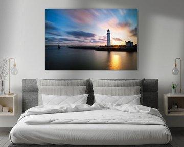 Leuchtturm Hellevoetsluis von Jim Looise