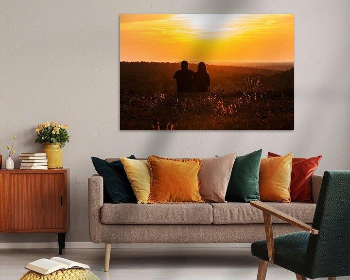 Impression: Les amoureux regardent le coucher de soleil sur Frank Herrmann