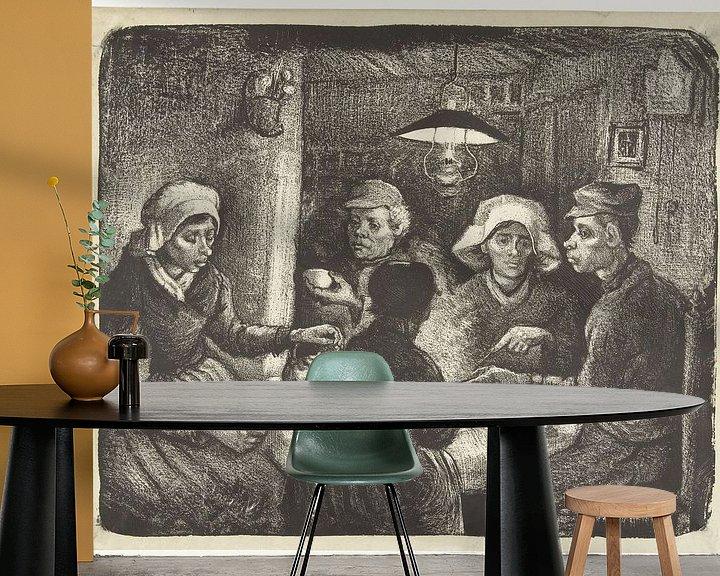 Sfeerimpressie behang: De aardappeleters van Eigenwijze Fotografie