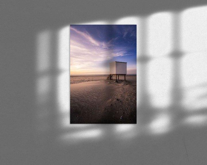 Impression: Maison de plage au coucher du soleil sur Thom Brouwer