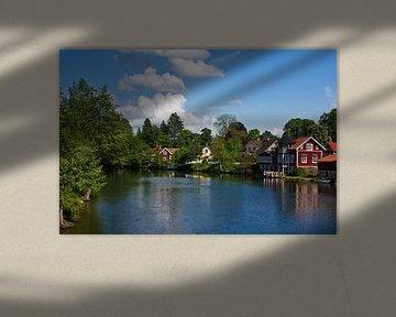 Huizen aan de rivier van Anja B. Schäfer