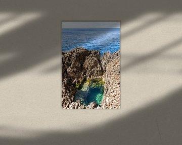 Verstopte poel in de rotsen van Malta van Manon Verijdt