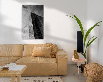 Schwarzes und weißes Bürogebäude Leeuwarden von Patrick Verhoef