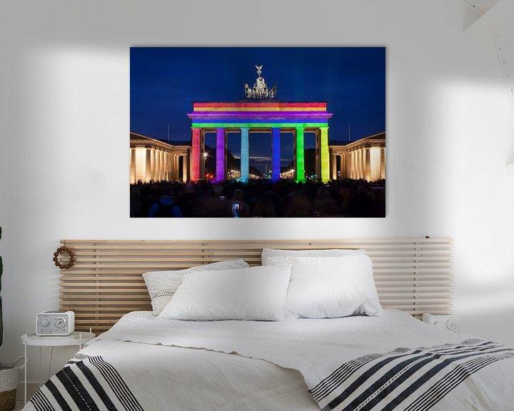 Sfeerimpressie: Brandenburger Tor Berlijn in speciale verlichting van Frank Herrmann