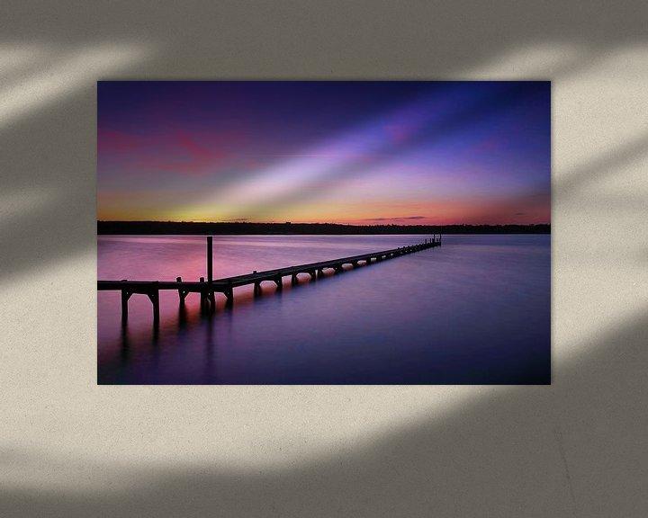 Impression: Longue jetée au coucher du soleil sur Frank Herrmann