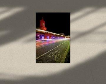 Oberbaumbrücke bei Nacht von Frank Herrmann
