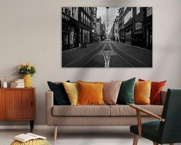 Leidsestraat (schwarz und weiß) von By Odessa DC