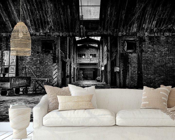 Sfeerimpressie behang: Leegstaande Baksteenfabriek van Eus Driessen