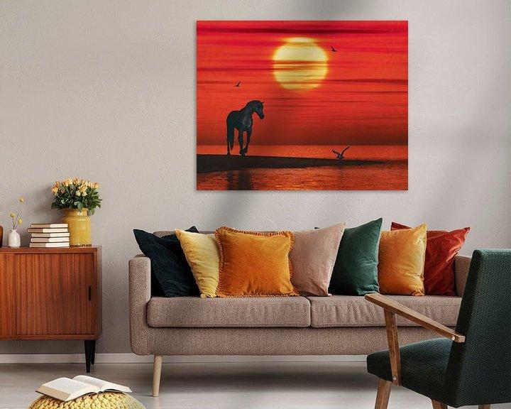 Sfeerimpressie: Een paard en een zeemeeuw van Jan Keteleer