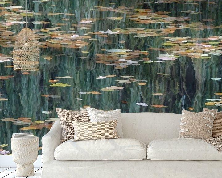 Beispiel fototapete: Blätter auf dem Wasser von -  BIMBO  -