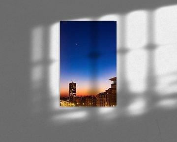 Zonsondergang met twee sterren van By Odessa DC