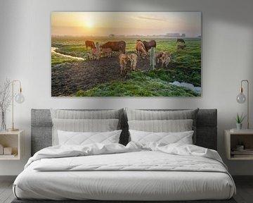 Het buitenleven met koeien van Dirk van Egmond
