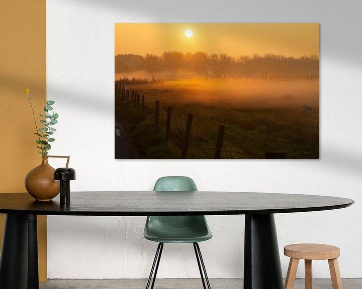 Beispiel: Nebel bei Sonnenaufgang. von Anneke Antonides