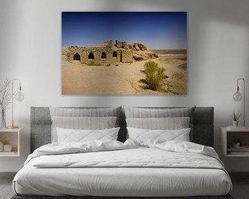 Toprak-Kala een oud fort in Oezbekistan van Yvonne Smits