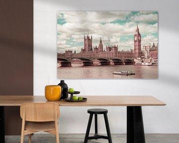 LONDON Westminster Bridge | urbaner Vintage-Stil von Melanie Viola