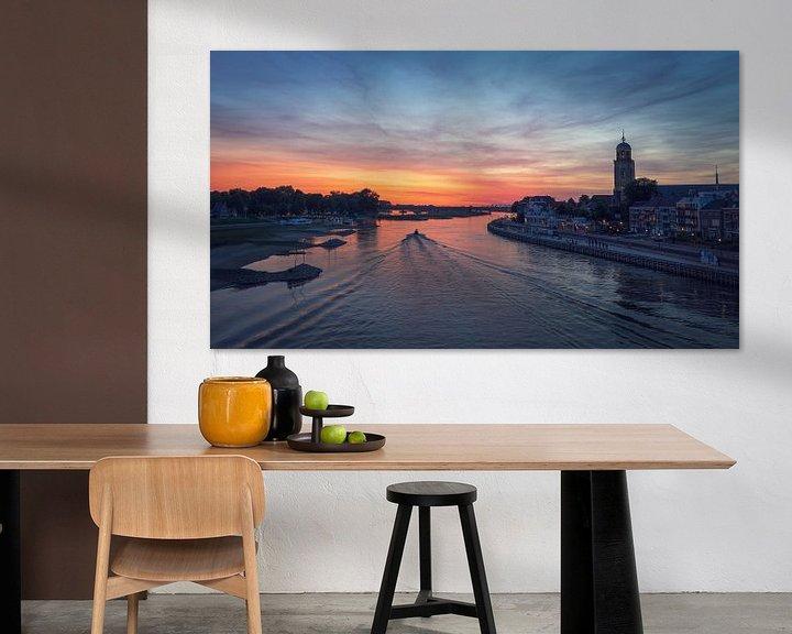 Beispiel: Bootsfahrten auf der IJssel entlang der Skyline von Deventer von Karla Leeftink