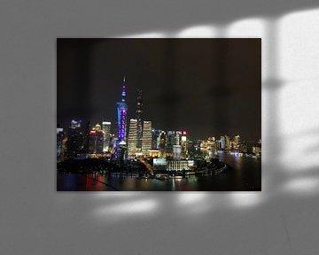 skyline van Shanghai van Till van Zwamen