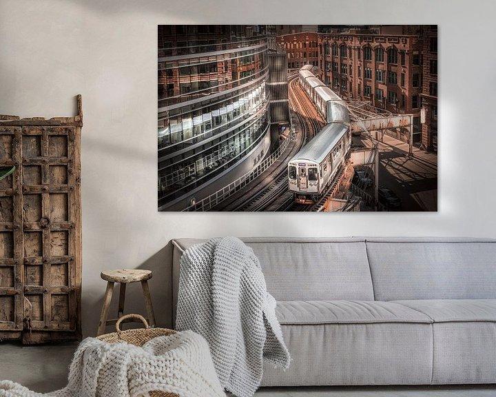 Impression: Train de Chicago sur Jan van Dasler