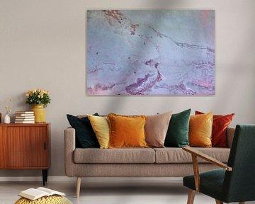 Urban wall - pink and blue van -  JOJO  -