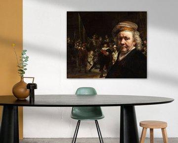 De Nachtwacht en het zelfportret van Rembrandt van Rijn van Eigenwijze Fotografie
