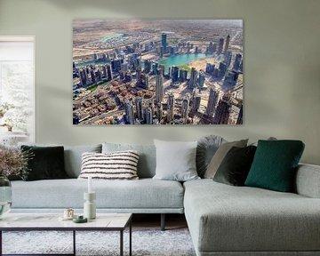 Luftaufnahme der City von Dubai von MPfoto71