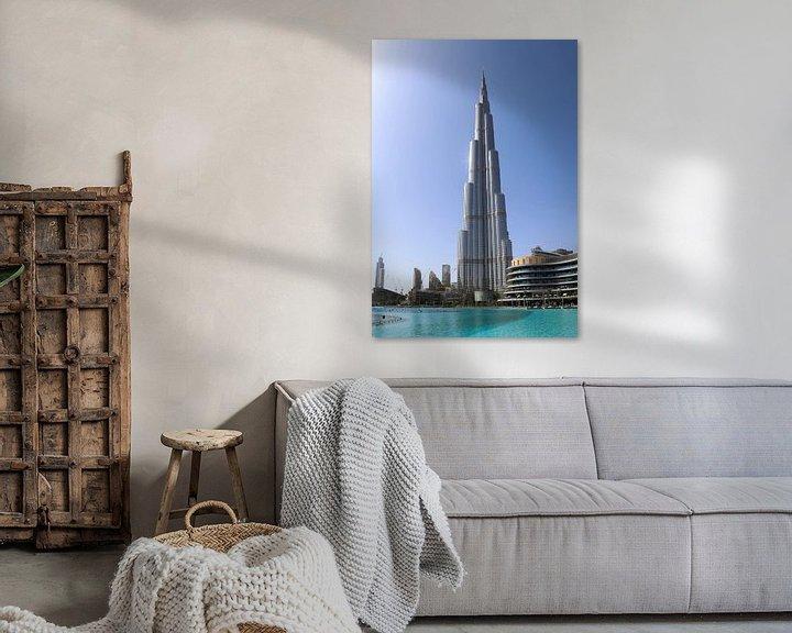 Beispiel: Ein sonniger Tag in Dubai am Burj Khalifa von MPfoto71
