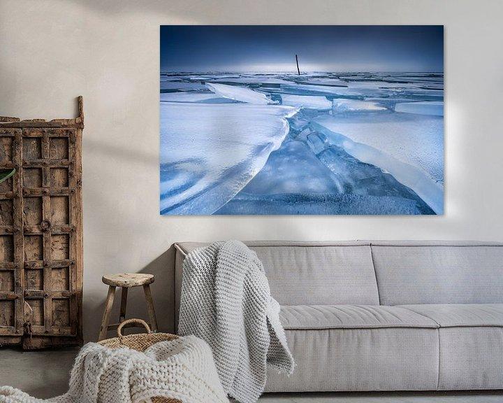 Sfeerimpressie: Een bevroren IJsselmeer van Ellen van den Doel