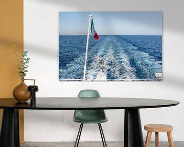 Veerboot bij zonsopgang van Thomas Heitz