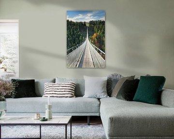 Hängeseilbrücke Geierlay auf dem Hunsrück in Rheinland-Pfalz von Markus Lange