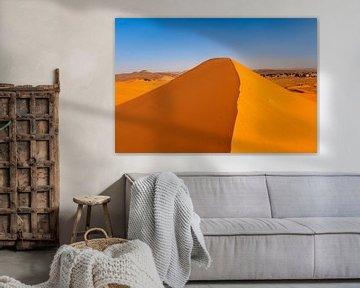 Zandduinen in de Erg Chebbi woestijn in Marokko van Markus Lange