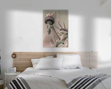 NEW YORK CITY Freiheitsstatue | urbaner Vintage-Stil von Melanie Viola