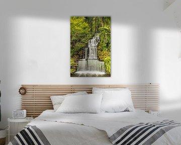 Waterval in Nieuw-Zeeland van Markus Lange
