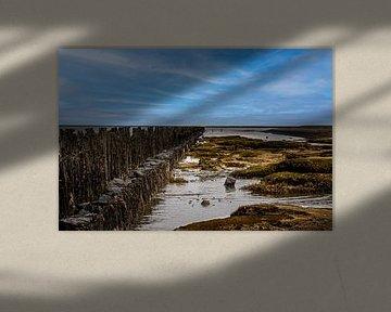 Laagwater Moddergat van Jan Willem Oldenbeuving