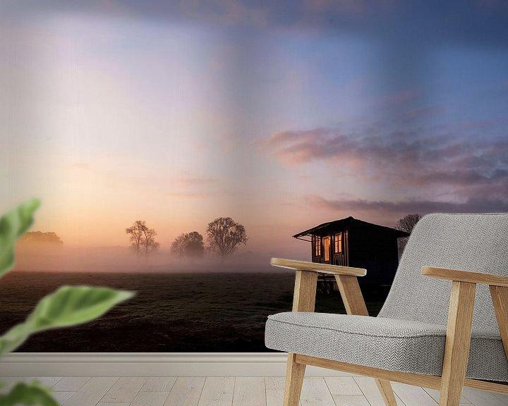 Beispiel fototapete: Die aufgehende Sonne spiegelt sich in den frühen Morgenstunden von Affect Fotografie