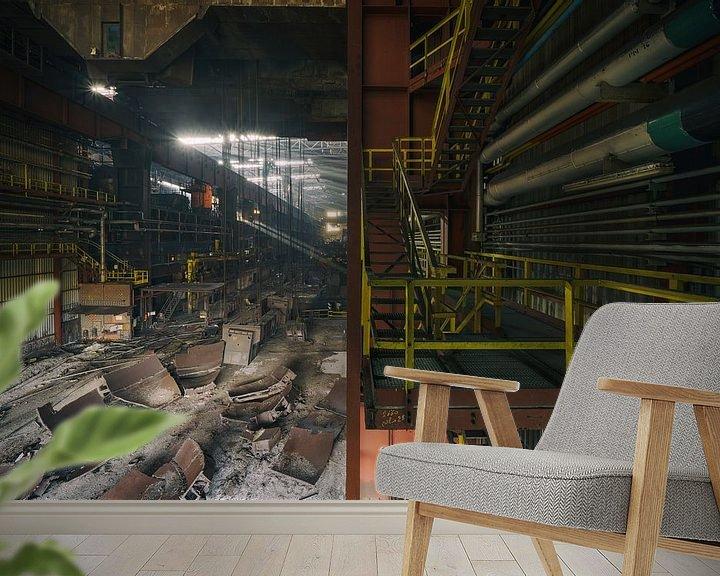 Beispiel fototapete: Große verlassene Stahlfabrik | Urbex Fotografie von Steven Dijkshoorn